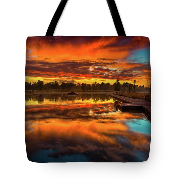 A Fall Sunrise Tote Bag