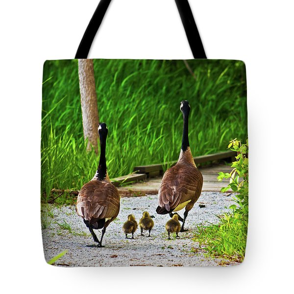 A Family Stroll Tote Bag