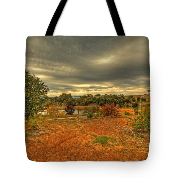 Tote Bag featuring the photograph A Farm In Bridgetown, Western Australia by Elaine Teague