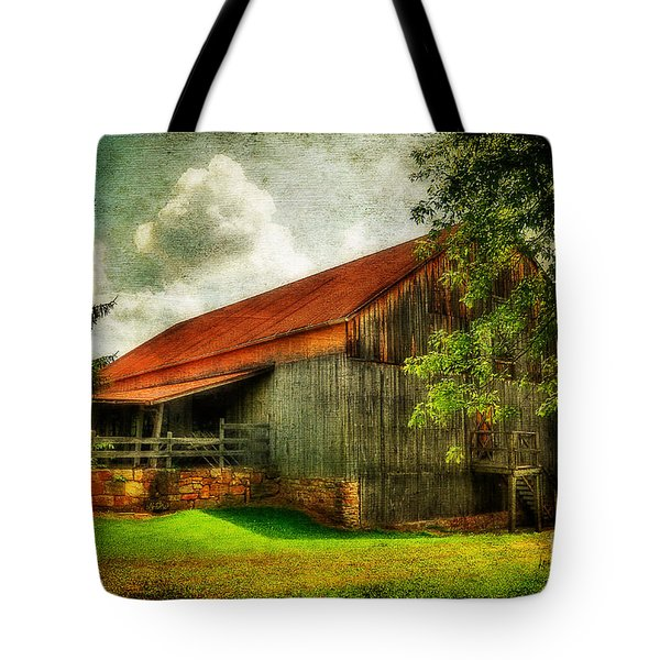 A Farm-picture Tote Bag by Lois Bryan