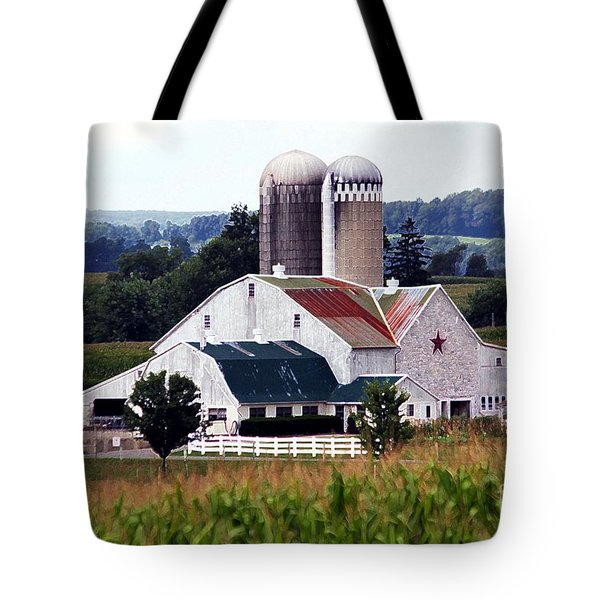 Tote Bag featuring the photograph A Farmer's Paradise by Polly Peacock