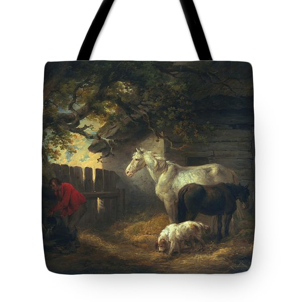 A Farmyard Tote Bag by George Morland