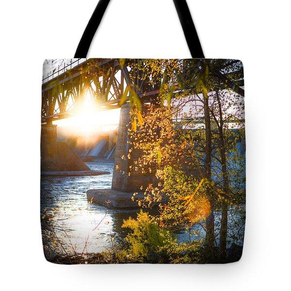 Blanchard Dam - A Favorite Place Tote Bag