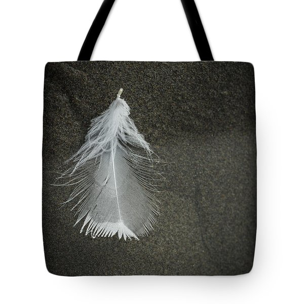 A Feather At The Edge Of The Water Tote Bag