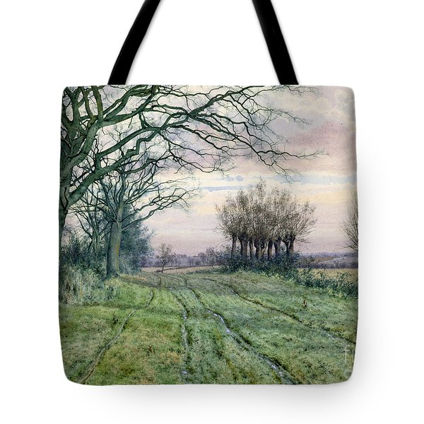 A Fenland Lane With Pollarded Willows Tote Bag by William Fraser Garden