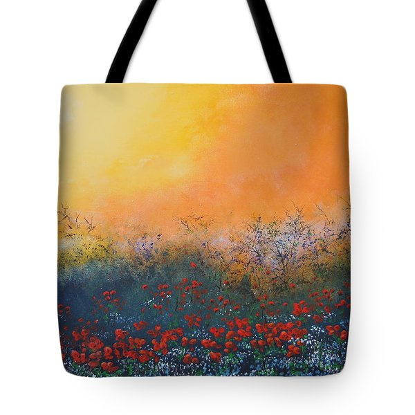A Field In Bloom Tote Bag by Dan Whittemore