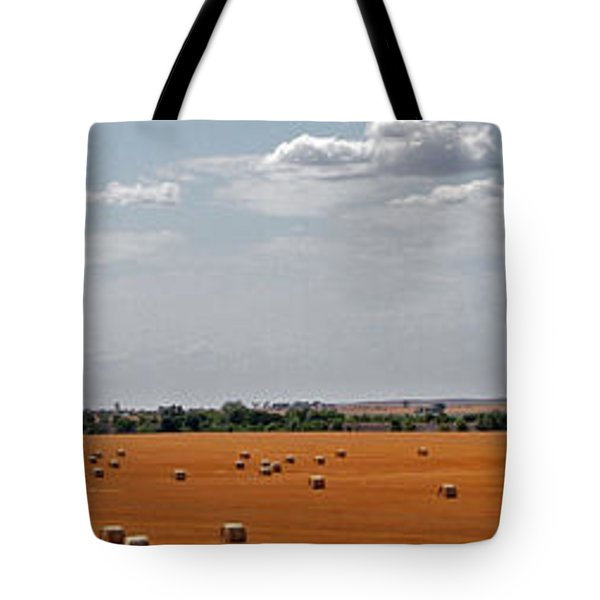 A Field Of Bales Tote Bag