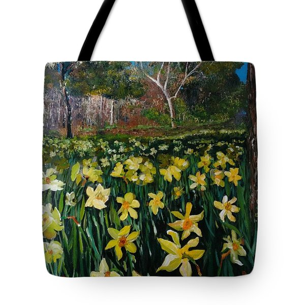 A Field Of Daffodils Tote Bag