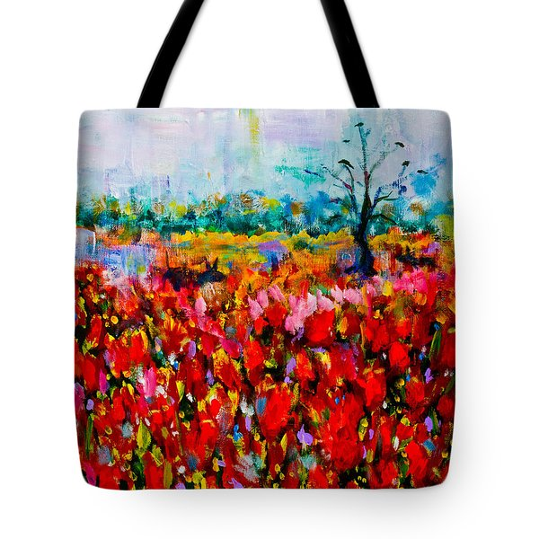 A Field Of Flowers # 2 Tote Bag