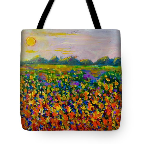 A Field Of Flowers #1 Tote Bag