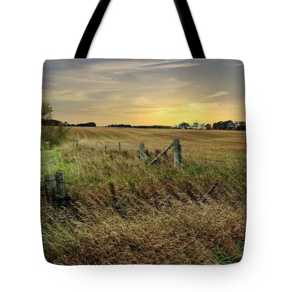 Tote Bag featuring the photograph A Field Of Gold by Judy  Johnson