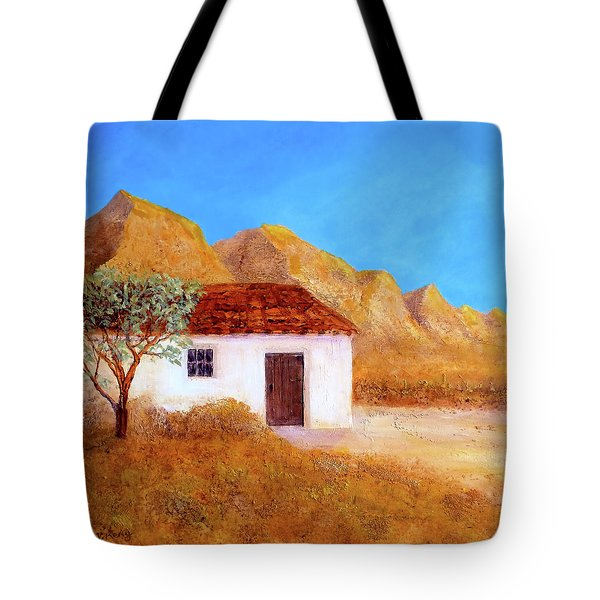 Tote Bag featuring the painting A Finca In Spain by Valerie Anne Kelly