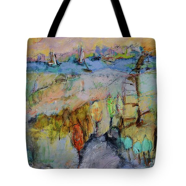 A Fine Day For Sailing Tote Bag by Sharon Furner