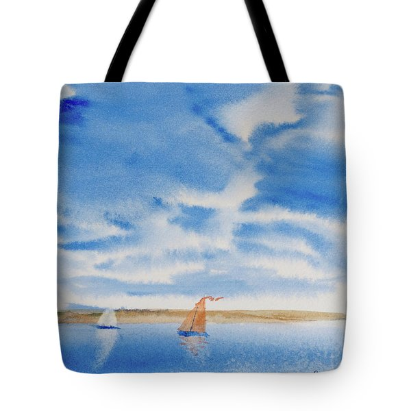 A Fine Sailing Breeze On The River Derwent Tote Bag