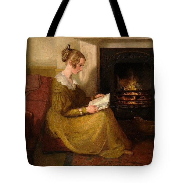 A Fireside Read Tote Bag by William Mulready