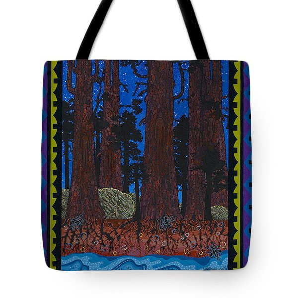 Tote Bag featuring the painting A Forest Whispers by Chholing Taha