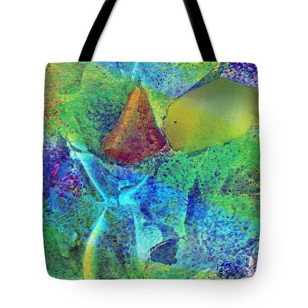 A Fish Kissing A Nose Tote Bag by Kathie Chicoine