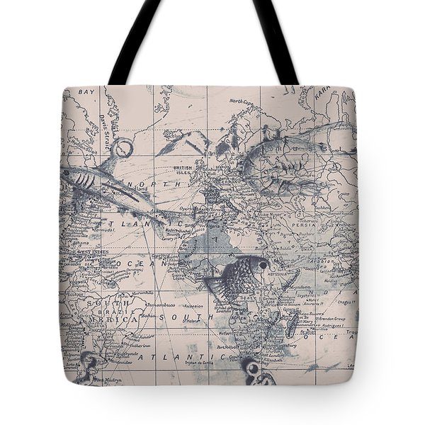 A Fishermans Map Tote Bag