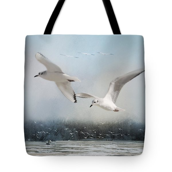 A Fishin' On The River Tote Bag