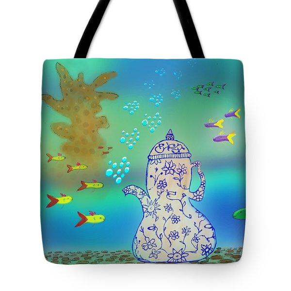 A Fishy Tea Pot Tote Bag