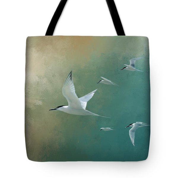 A Flight Of Terns Tote Bag