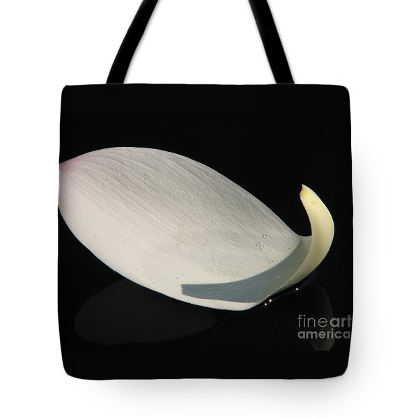 A Floating Lotus Petal Tote Bag by Eva Kaufman
