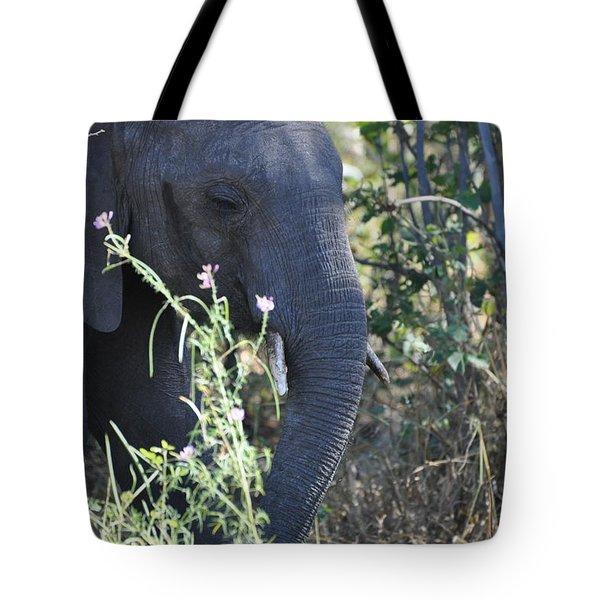 A Flower  A Elephant Tote Bag by Joe  Burns
