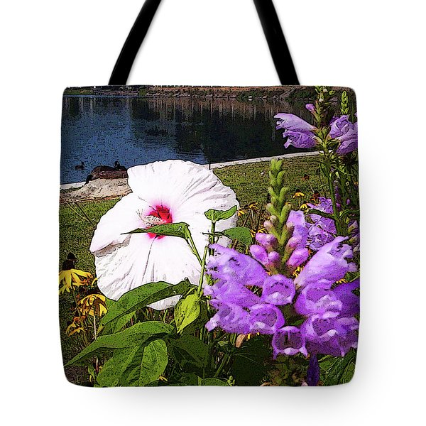 A Flower Blossoms Tote Bag by B Wayne Mullins