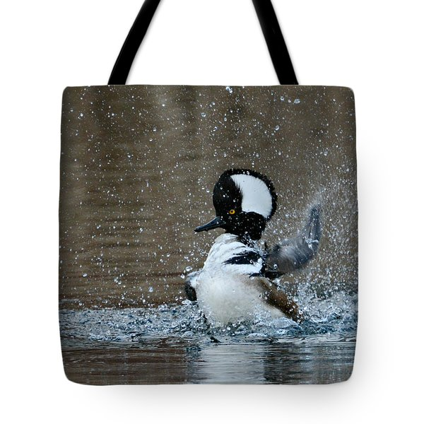 Tote Bag featuring the photograph A Flurry Of Feathers by Fraida Gutovich