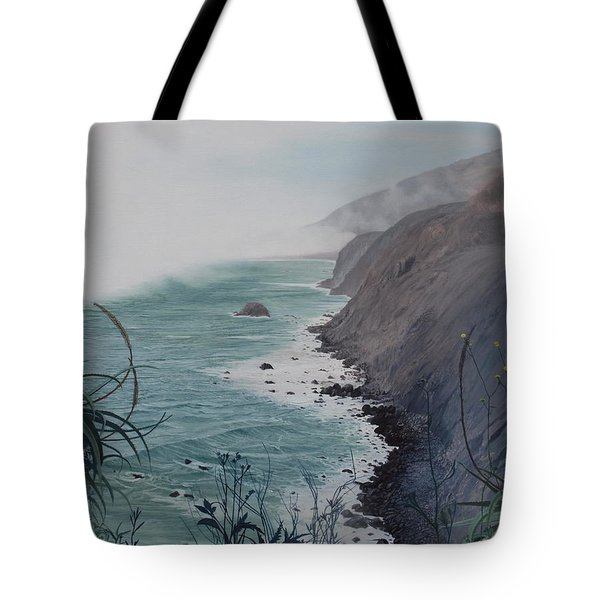 A Fog Creeps In Tote Bag