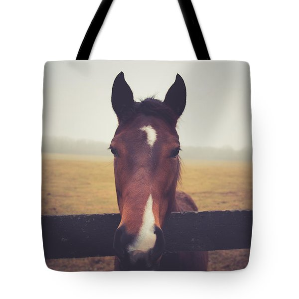 Tote Bag featuring the photograph A Foggy Christmas Day by Shane Holsclaw