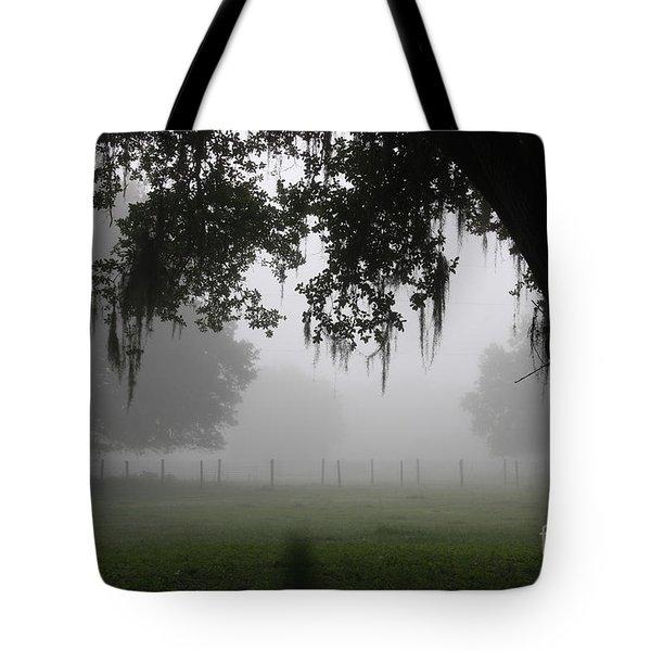 A Foggy Day In Rural Fl Tote Bag