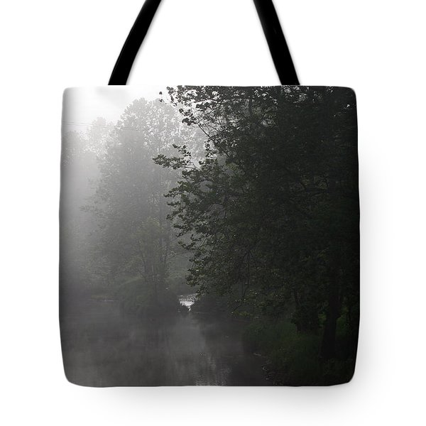 A Foggy Morning In Pennsylvania Tote Bag