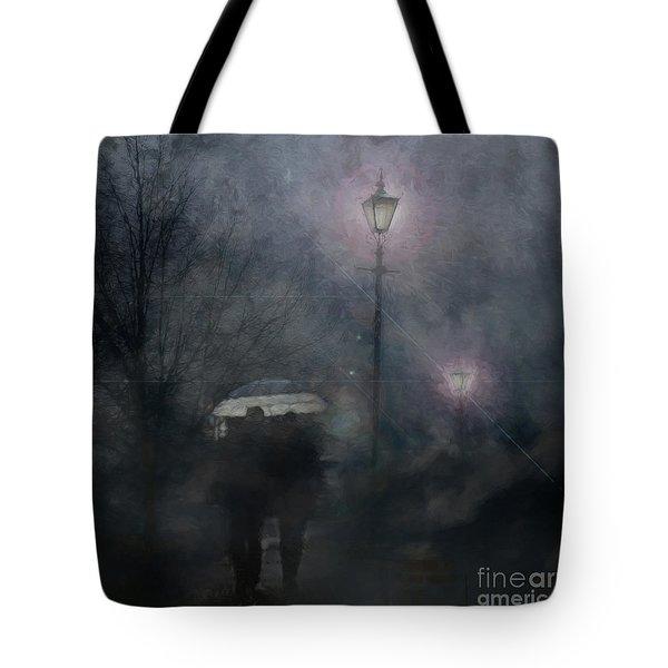 A Foggy Night Romance Tote Bag