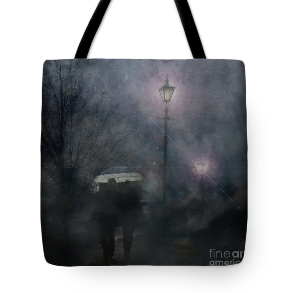 Tote Bag featuring the photograph A Foggy Night Romance by LemonArt Photography