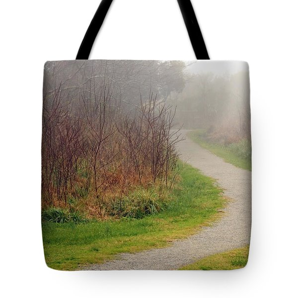 A Foggy Path Tote Bag
