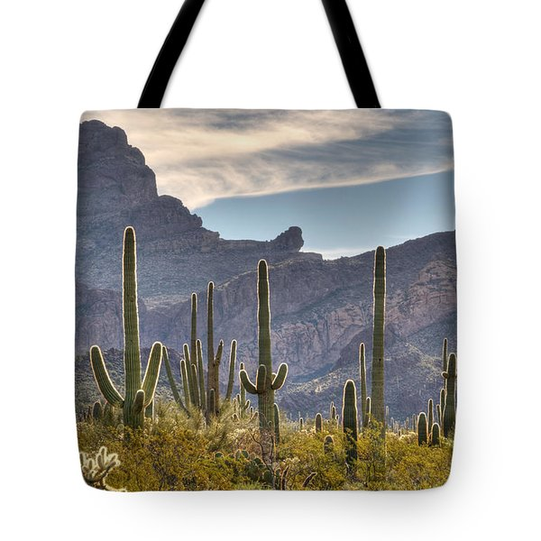 A Forest Of Saguaro Cacti Tote Bag