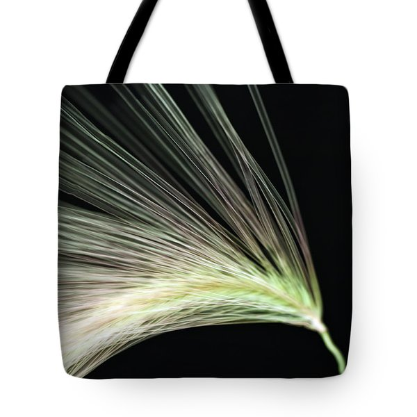 A Foxtail Seed In Flight - Macro Tote Bag by Sandra Foster