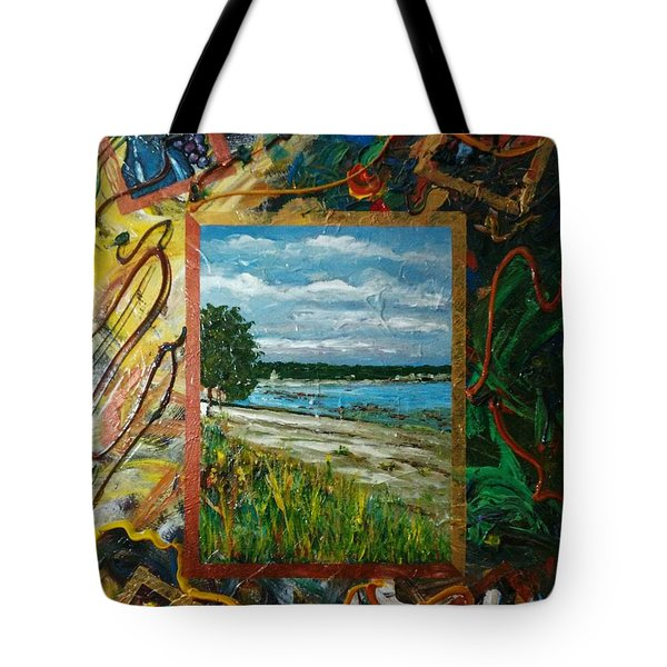 A Framed Landscape Tote Bag