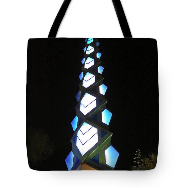 A Frank Lloyd Wright Spire Night Shot Tote Bag