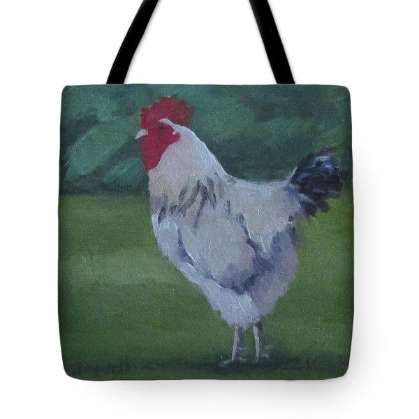 Tote Bag featuring the painting A French Rooster by Jennifer Boswell