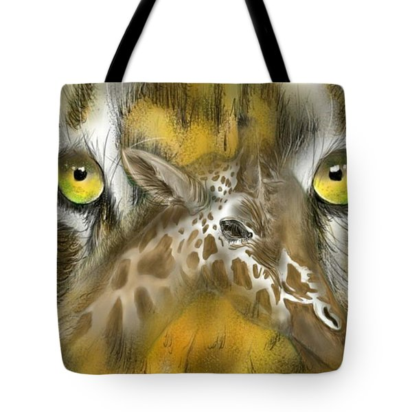 Tote Bag featuring the digital art A Friend For Lunch by Darren Cannell
