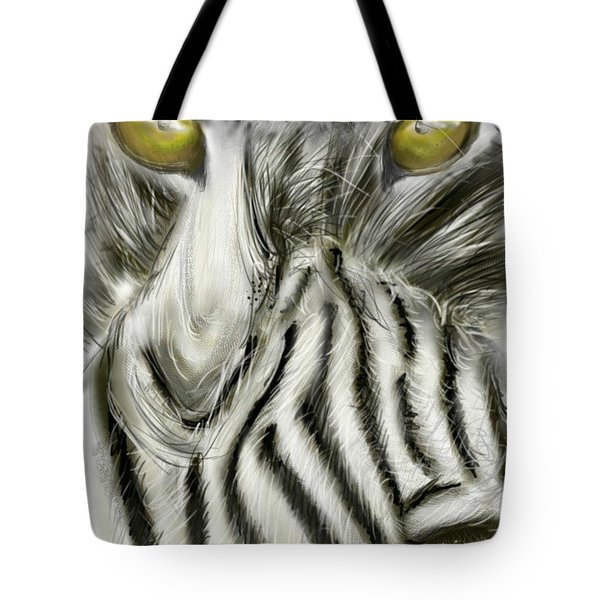 Tote Bag featuring the digital art A Friend For Lunch Two by Darren Cannell