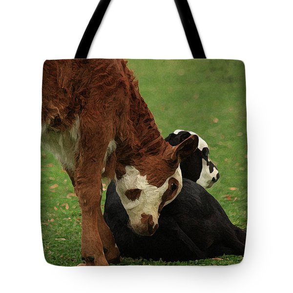 Tote Bag featuring the digital art A Friend Indeed by Kim Henderson