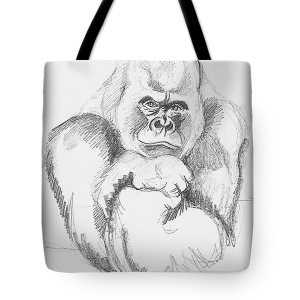 A Friendly Gorilla Tote Bag by John Keaton