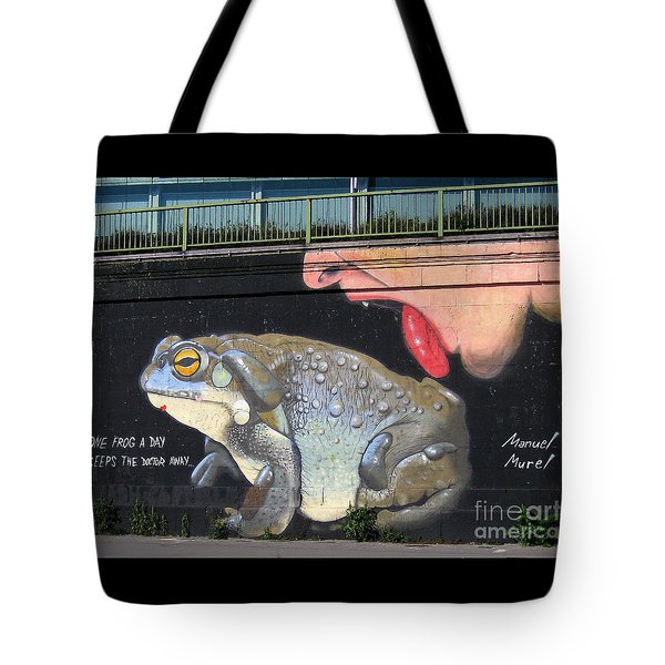 Tote Bag featuring the photograph A Frog A Day Keeps The Doctor Away by Menega Sabidussi