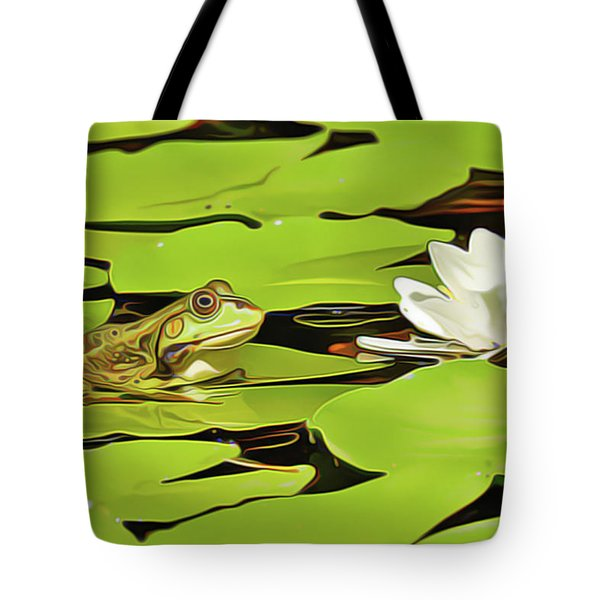 A Frog's Peace Tote Bag