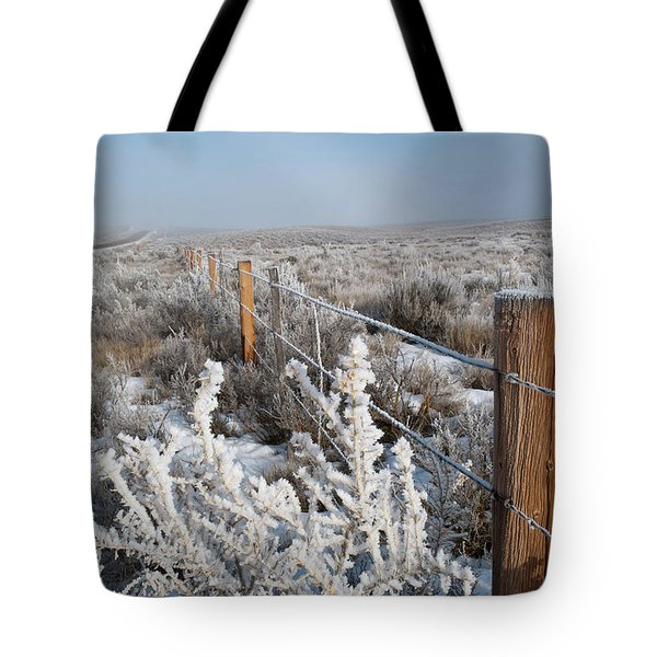 A Frosty And Foggy Morning On The Way To Steamboat Springs Tote Bag