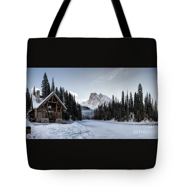 A Frozen Emerald Lake Morning Tote Bag by Brad Allen Fine Art