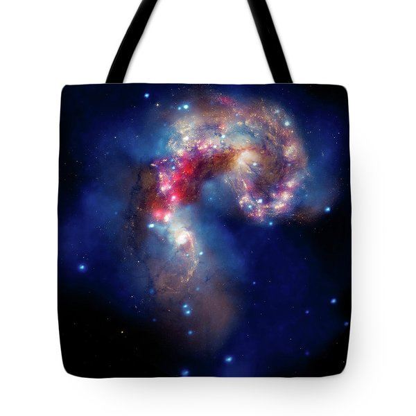 Tote Bag featuring the photograph A Galactic Spectacle by Marco Oliveira